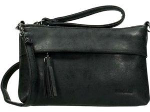 Mooie clutch / schoudertas van Beagles, zwart