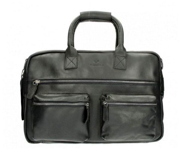 Lederen A4 tas, Micmacbags, western zwart