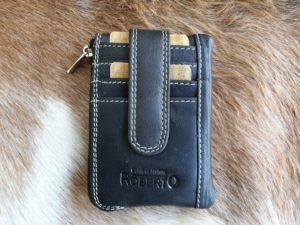 pasjeshouder, portemonneetje en sleutelhanger, zwart