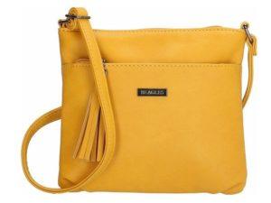 Kleine schoudertas van Beagles, oker geel