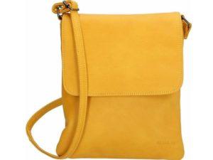Beagles schoudertasje met overslag, Oker geel