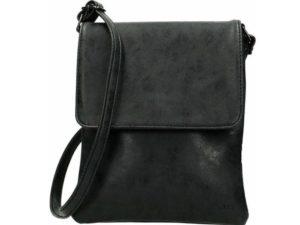 Beagles schoudertasje met overslag, Zwart