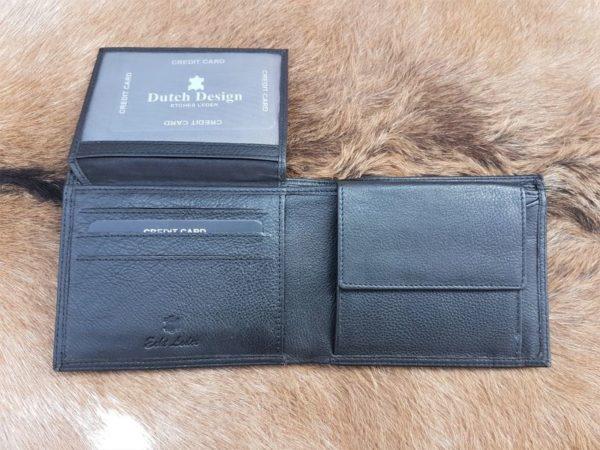 Lederen heren portemonnee met ruime rits binnenin