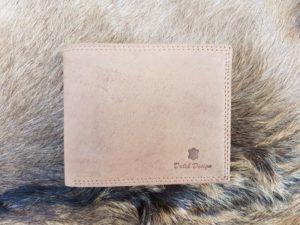 Lederen billfold portemonnee, camel bruin hunter