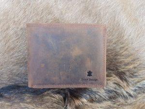 Bestseller ! Lederen billfold portemonnee, donker bruin