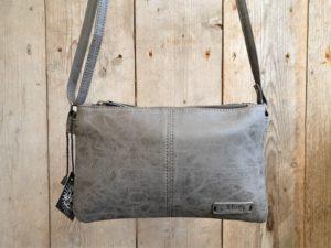 Metz tas grijs met 2 ruime aparte vakken