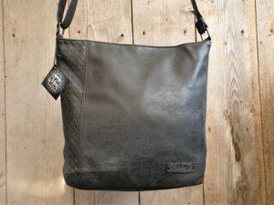 Zwarte tijdloze buidel tas van Metz in 2 maten