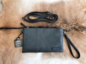 Metz, schoudertas en clutch tasje, zwart