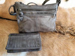 Combi METZ (5), lederen tas en portemonnee, grijs