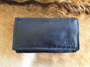 Metz portemonnee van mooi soepel leder, donker blauw