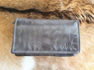 Metz portemonnee van mooi soepel leder, grijs