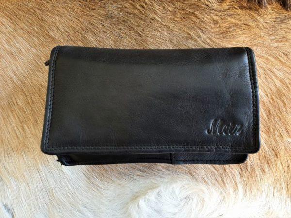 Metz portemonnee van mooi soepel leder, zwart