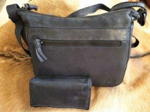 Combi METZ (17) lederen tas en portemonnee, blauw