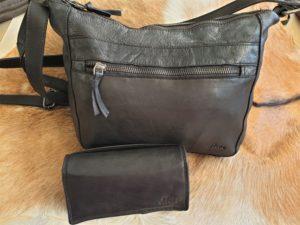 Combi METZ (18) lederen tas en portemonnee, zwart