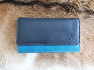 Ruime dames portemonnee multicolor, blauw