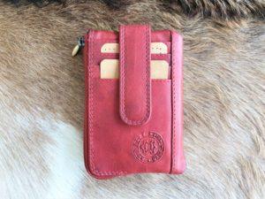 Pasjeshouder, portemonneetje en sleutelhanger, rood