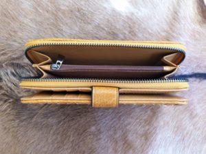 Kunstlederen dames portemonnee gevlochten, geel