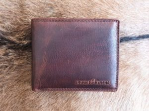 Deelbare heren portemonnee met dubbel munt vak, bruin