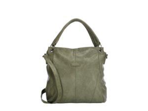 PU-shopper en schoudertas, Enrico Benetti groen