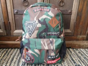 Rugtas Airforce camouflage leger groen met Patches