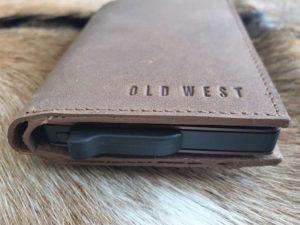 Old West creditcards, anti skim en portemonnee, bruin leder
