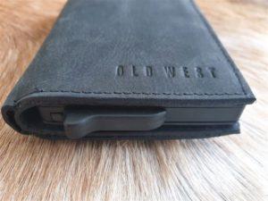 Old West creditcards, anti skim en portemonnee, zwart leder