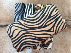 NIEUW ! Grote tijgerprint portemonnee met 2 rits vakken