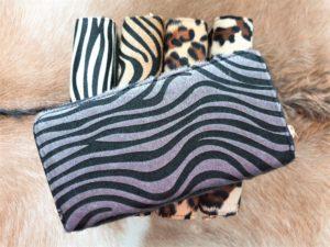 NIEUW ! Grote zebraprint grijs portemonnee met 2 rits vakken