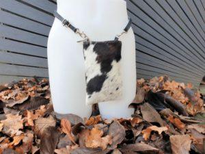 Extra rits koeienhuid, telefoontasje, heuptasje & schoudertasje